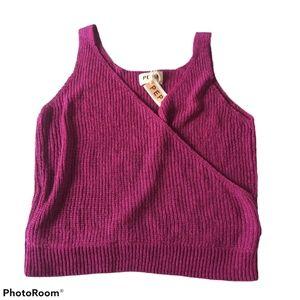 Anthropologie Pepin Wrap Knit Sweater Tank Top